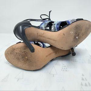 Rebecca Minkoff Shoes - Rebecca Minkoff Reed Snake Print heels lace up